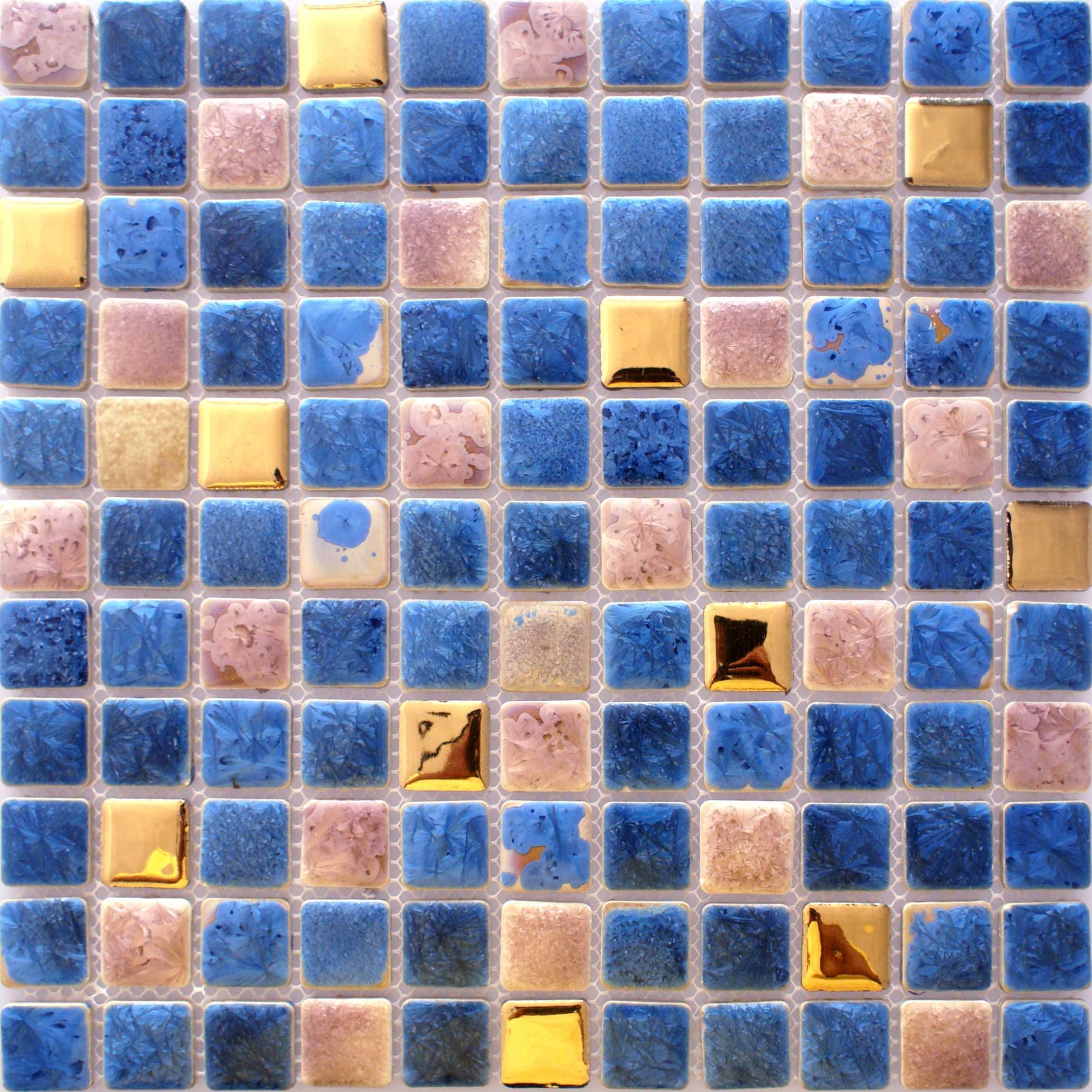 Blue Tiles For Kitchen Porcelain Tile Snowflake Style Mosaic Art Design