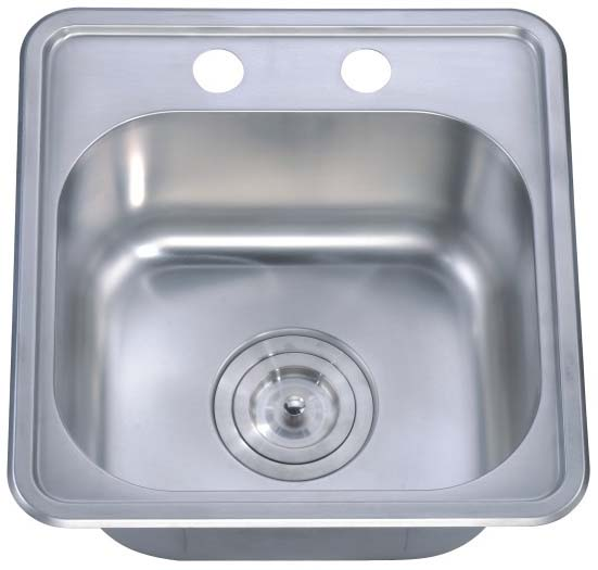 304 Stainless Steel Sink Chrome Nickel Single Bowl Bst1515