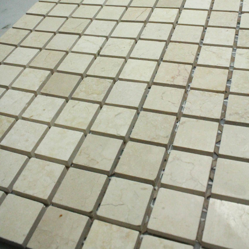 Stone Mosaic Tile Yellow Patterns Bathroom Wall Marble