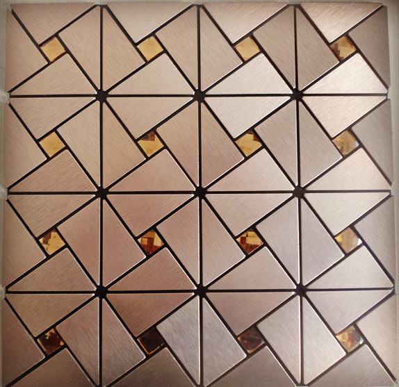 front side of the metal tile stainless steel aluminum blend