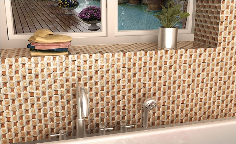 porcelain glass mosaic tile for bathroom backsplash wall tile