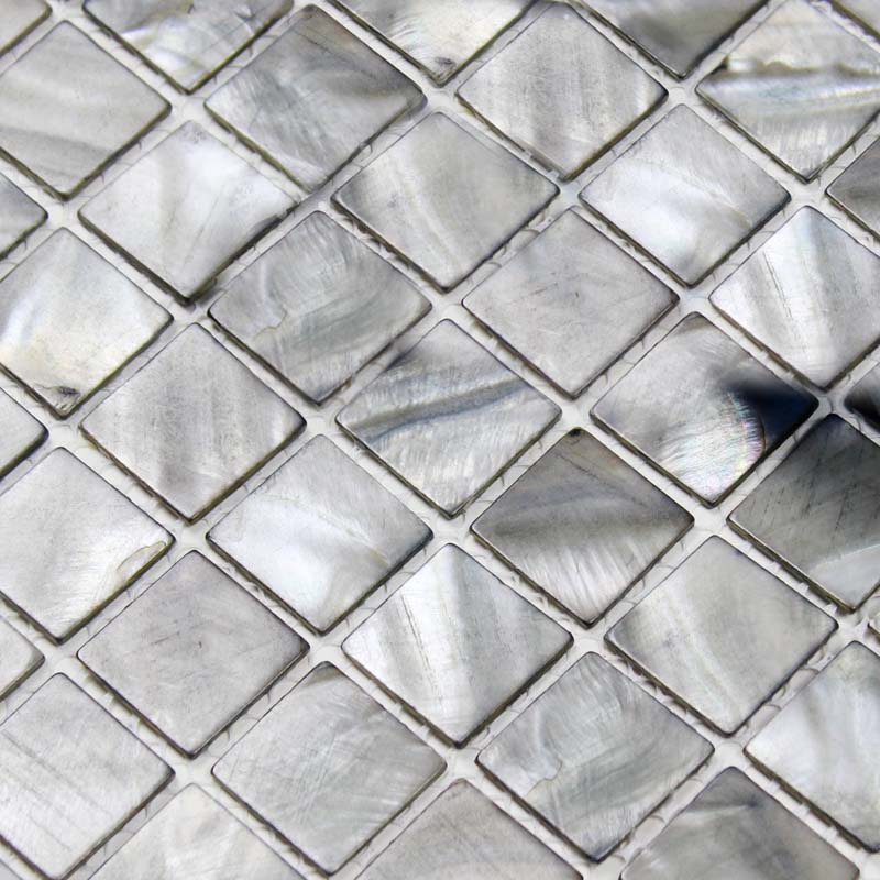 Popular shell tiles 100% grey seashell mosaic mother of pearl tiles  XO93