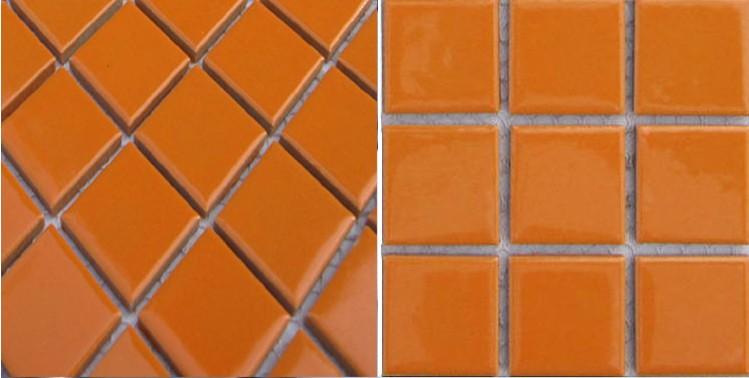 Front Side Of Porcelain Mosaic Tile Backsplash