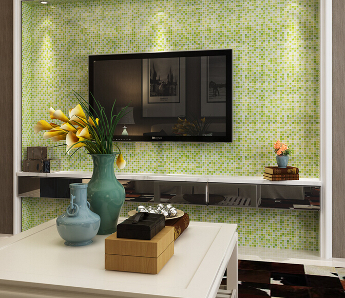 How To Clean Bathroom Wall Tiles Easily: Green Crackle Glass Tiles Crystal Tile Wall Backsplashes