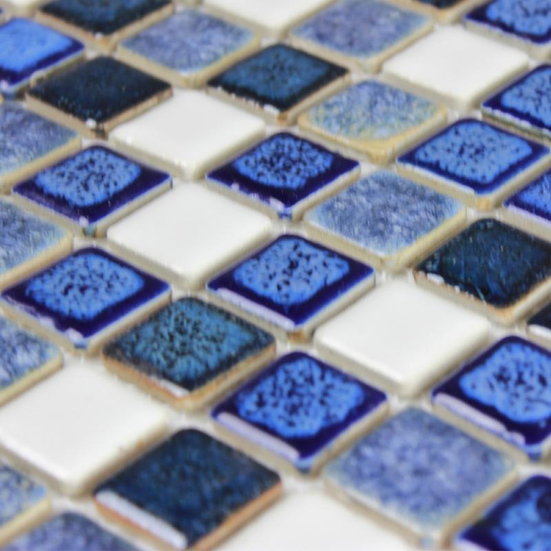Blue Porcelain Square Mosaic Tiles Design Ceramic Tile Flooring Kitchen Backsplash Fg 9961