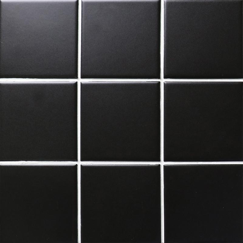 black matte porcelain tile non slip tile washroom shower tile