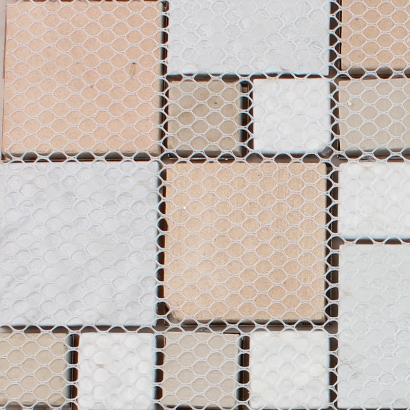 crystal glass metal blend tile mosaic