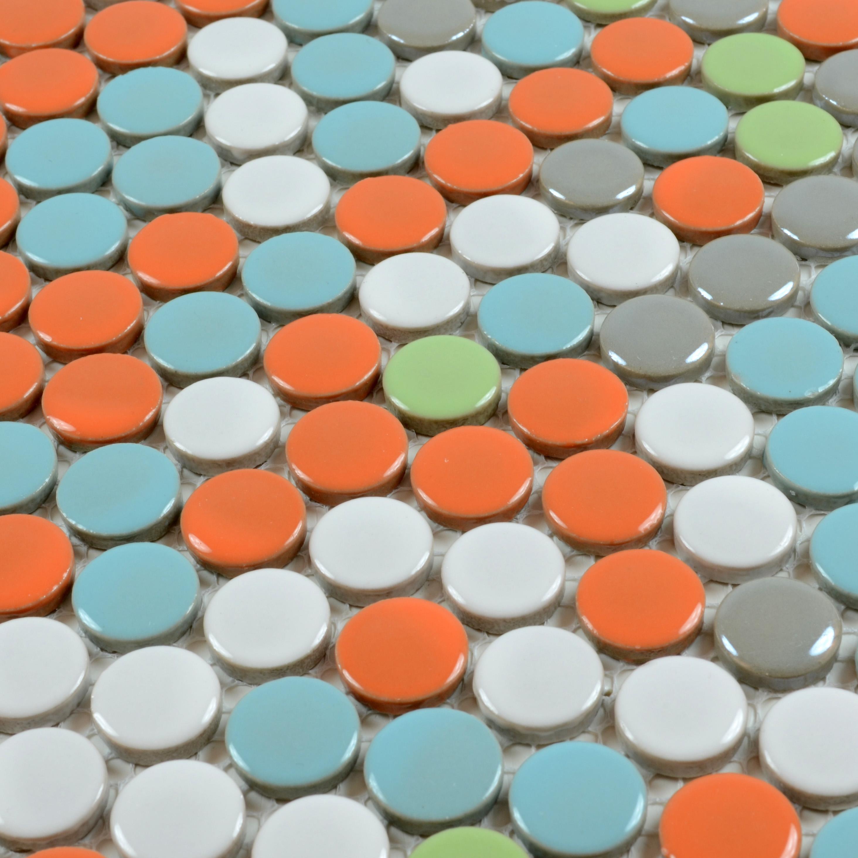 Wholesales Porcelain Round Mosaic Tiles Design Porcelain