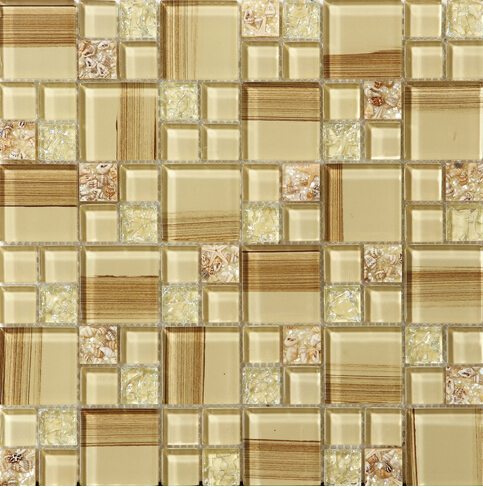 crystal glass tile glazed vitreous mosaic wall tiles