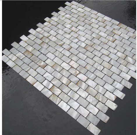 mother of pearl shell mosaic tile details