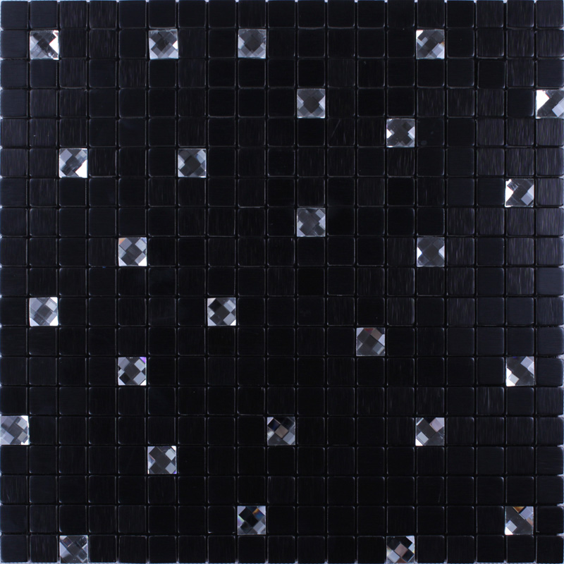 black 304 stainless steel metal diamond glass wall sheet