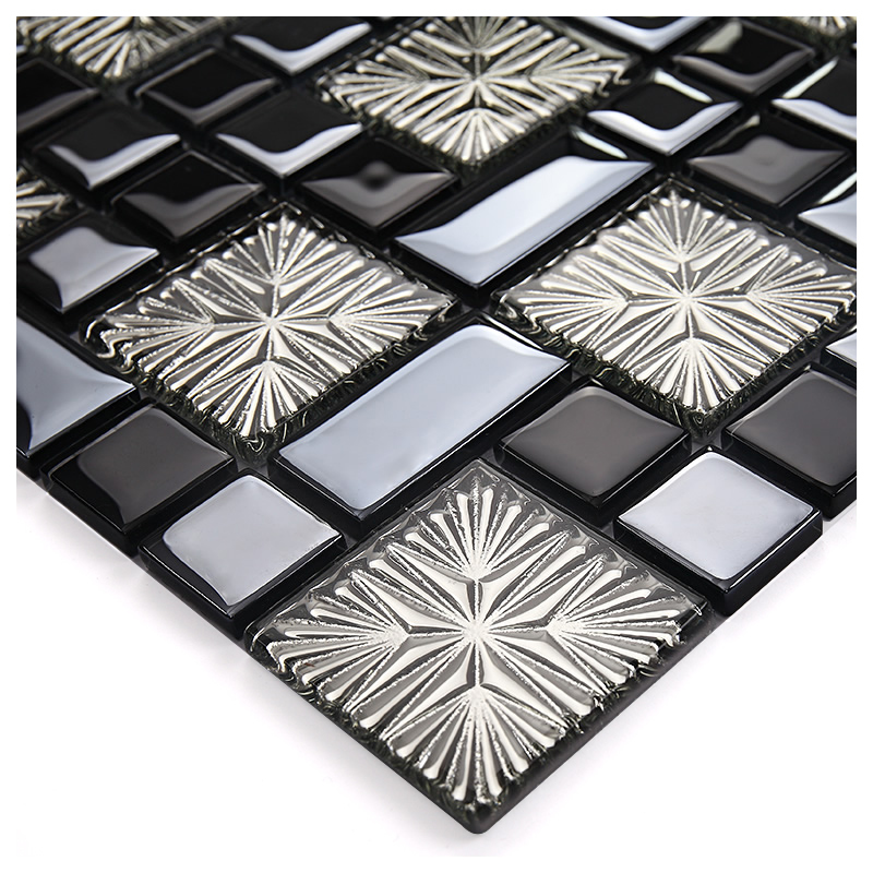 coating mosaic tiles art design glass tile bedroom kitchen