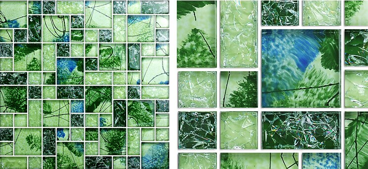 Front Of Crystal Gl Tile Vitreous Mosaic Wall Tiles