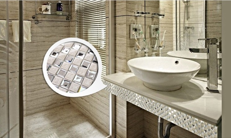 porcelain glass mosaic tile for living room wall stickers decoration