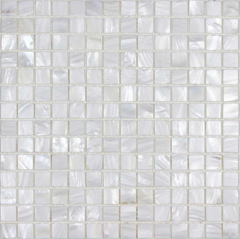 Shell Tiles 100 White Seashell Mosaic Mother Of Pearl