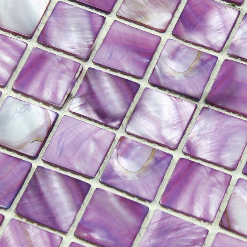 Shell Tiles 100 Purple Seashell Mosaic