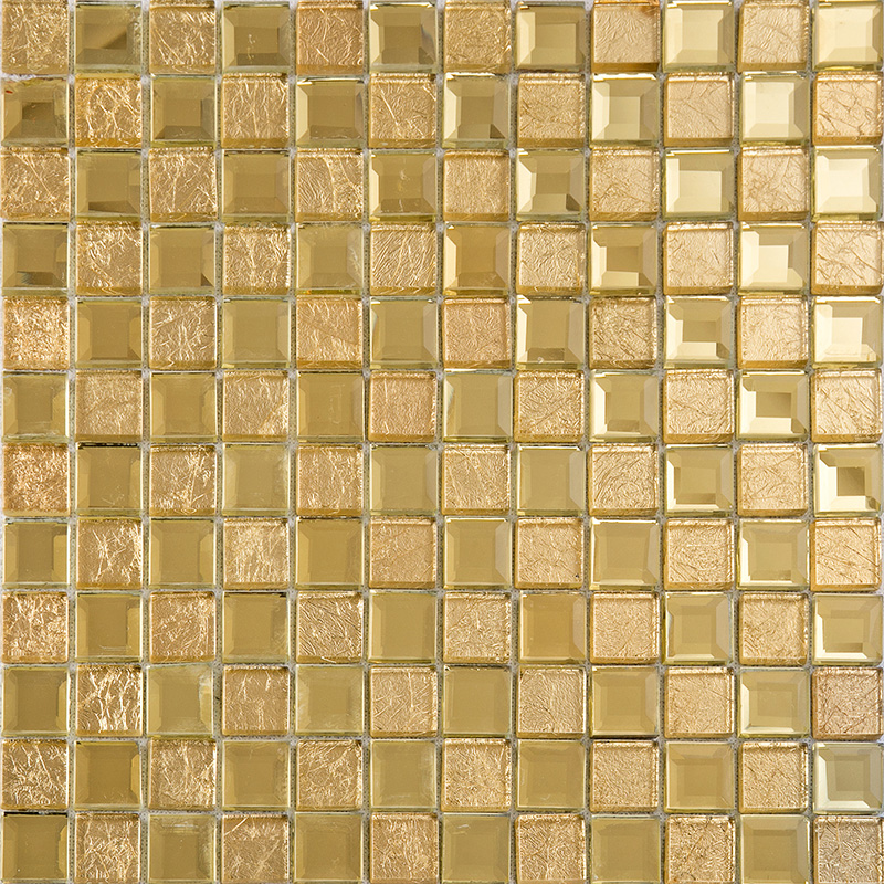 Gold mirror glass tile crystal tile square wall Mosaic tile wall designs