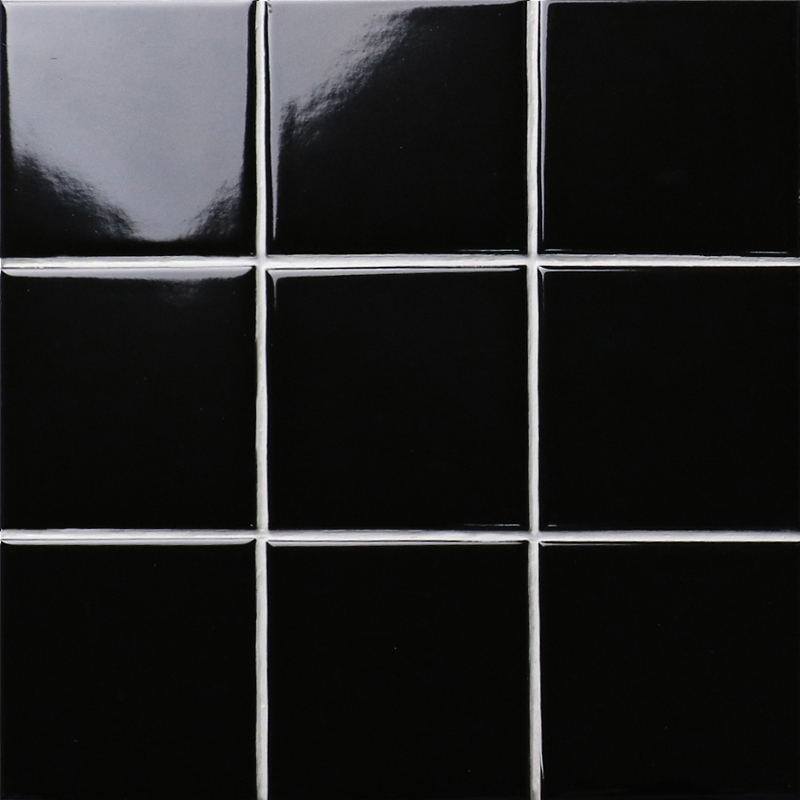 Black SHINY Porcelain Tile NON SLIP Tile Washroom Wall Tiles Shower Tile  Wall Backsplashes XMGTG01
