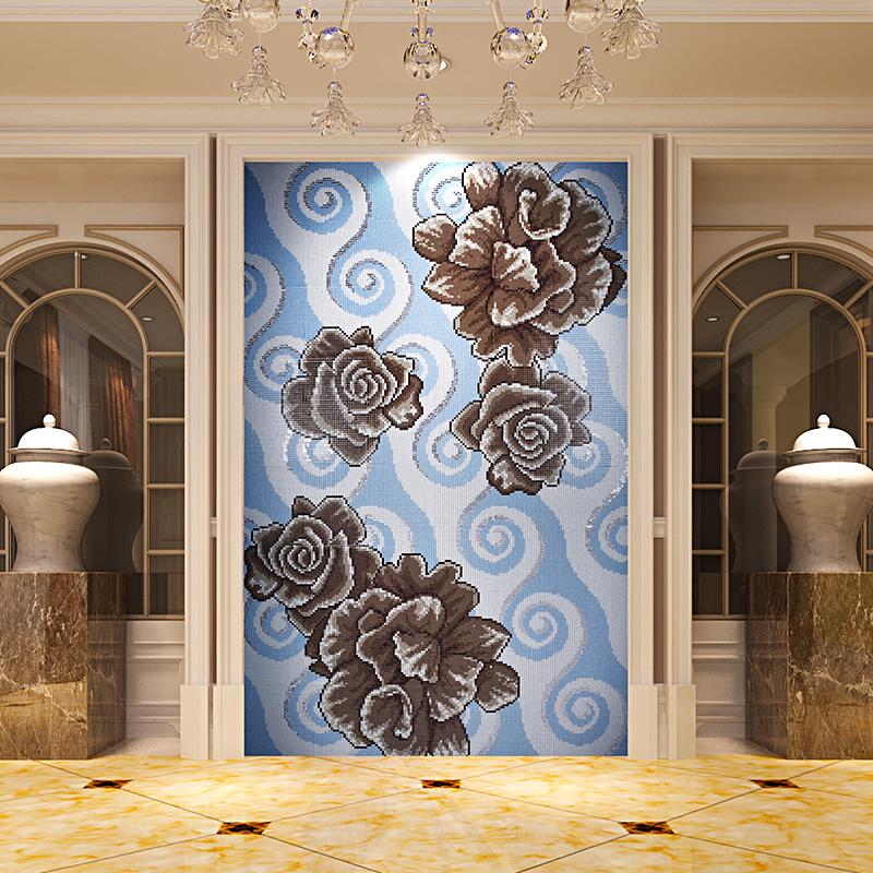 Crystal Glass Mosaic Tile Puzzle Tile Wall Backsplashes