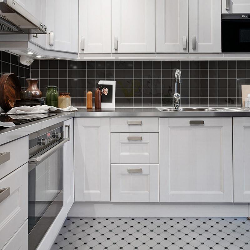 black shiny porcelain tile non slip tile washroom wall