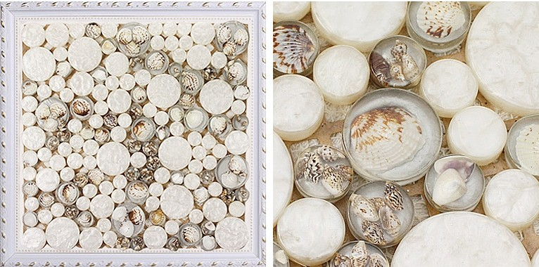 crystal pebble glass tile vitreous mosaic shell wall tiles