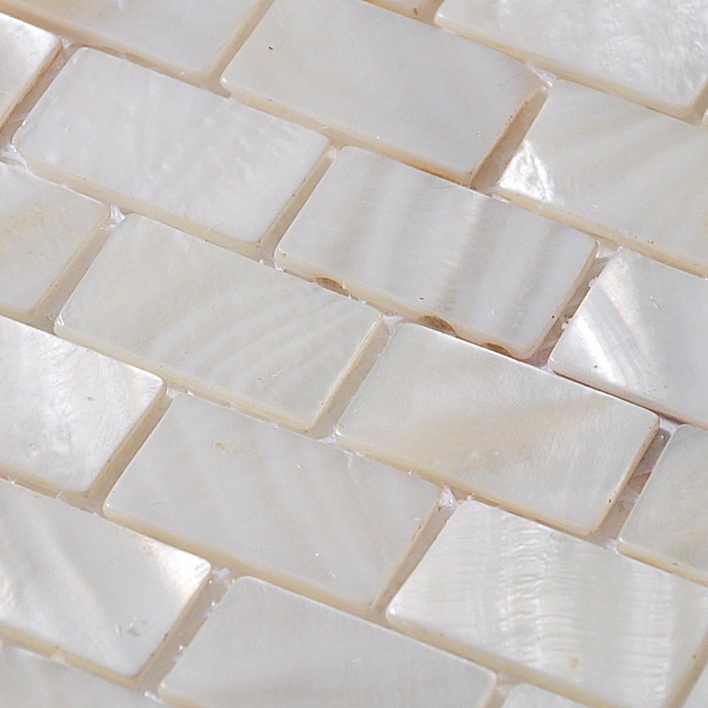 Shell tile mosaic wall tile tiling subway tile kitchen backsplash mother of pearl shell mosaic tile details dailygadgetfo Images