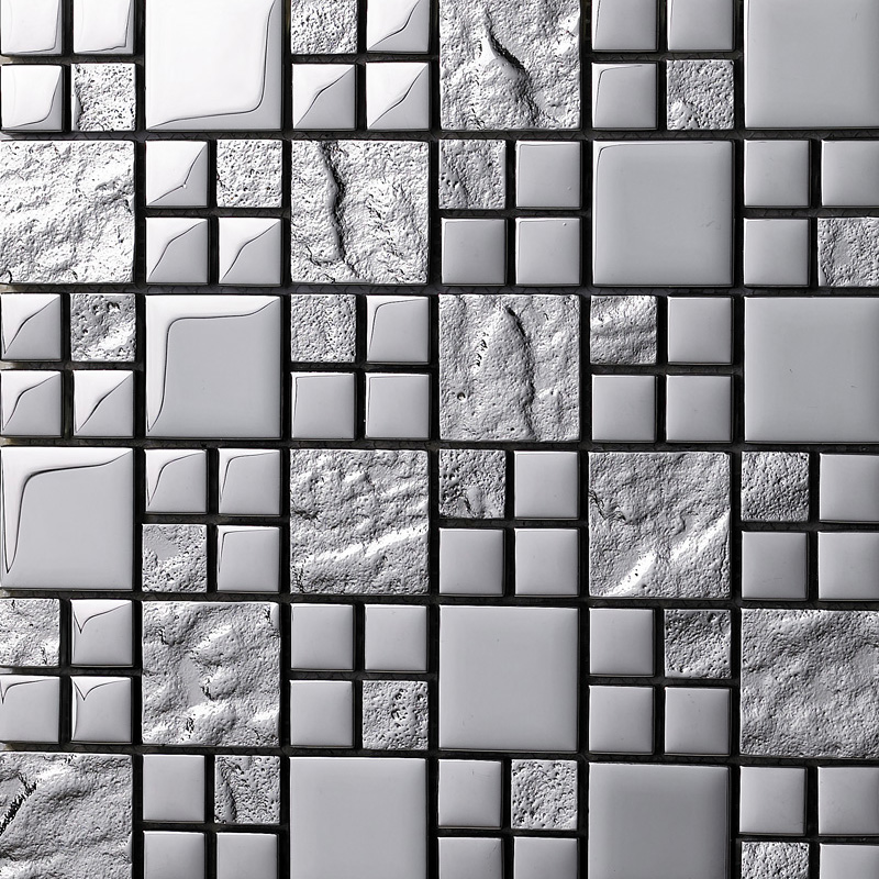 Glass Tiles For Kitchen Wall: Mosaic Tiles Grey Crystal Glass Backsplash Kitchen