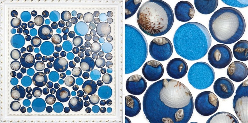 crystal pebble glass tile shell mosaic wall tiles