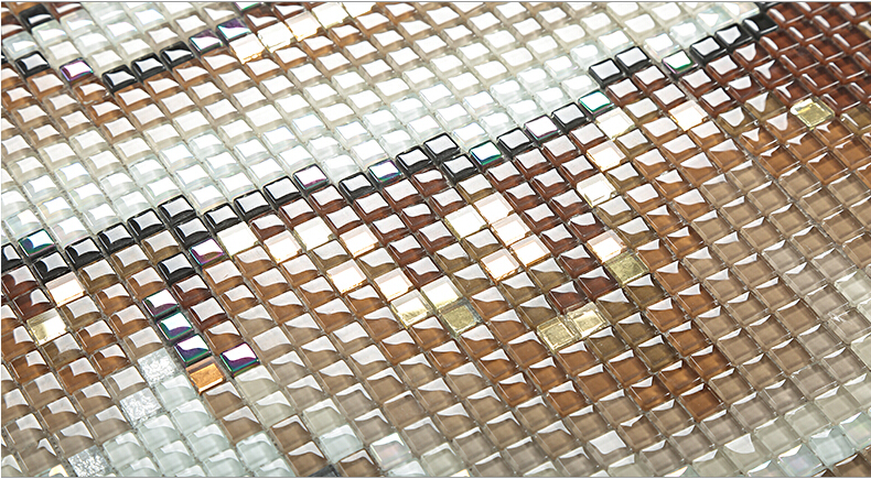 crystal glass tile frosted vitreous mosaic wall tiles