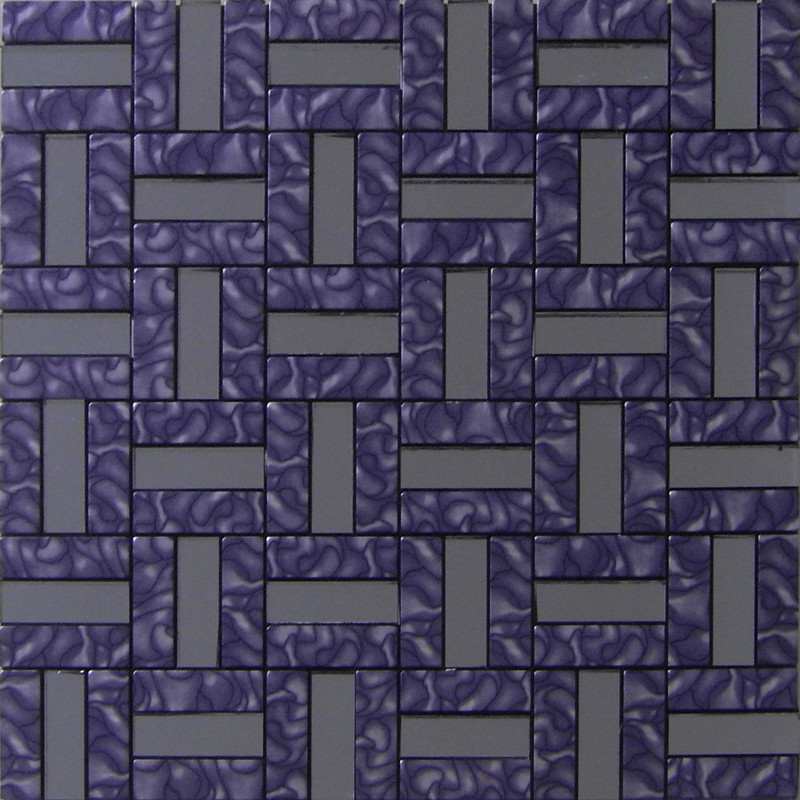 Aluminum Metal Wall Tile Purple Gl