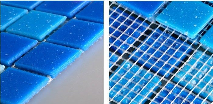 back of crystal glass tile vitreous mosaic swimming pool wall mesh mounted tiles - hc-468