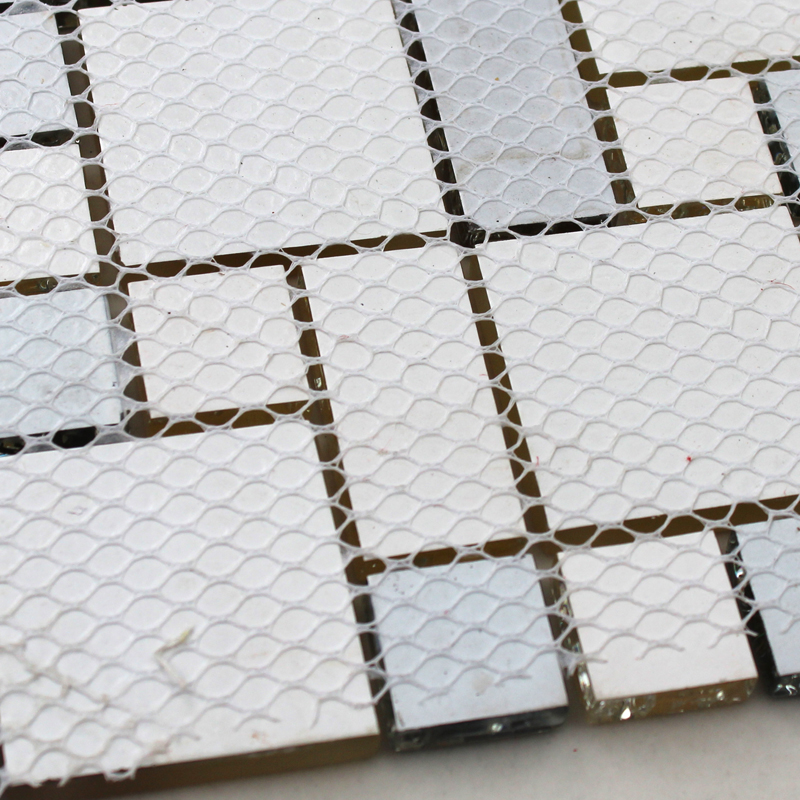 back of glass mosaic tile design mesh mounted -kls381