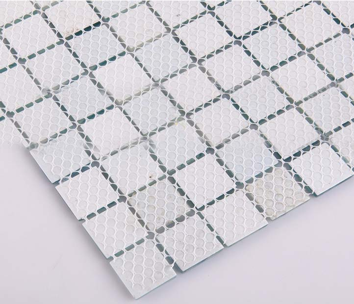 Wholesale mosaic tile crystal glass backsplash dinner for Back painted glass tile