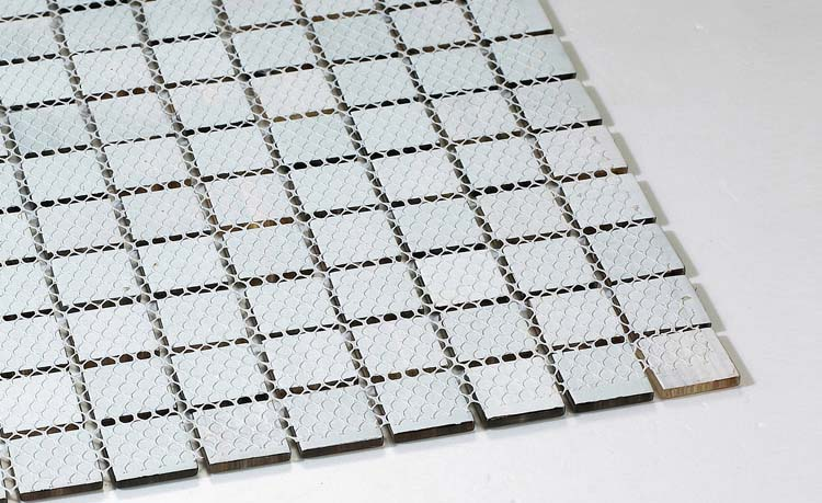 back of glass mosaic tile mesh mounted - b128