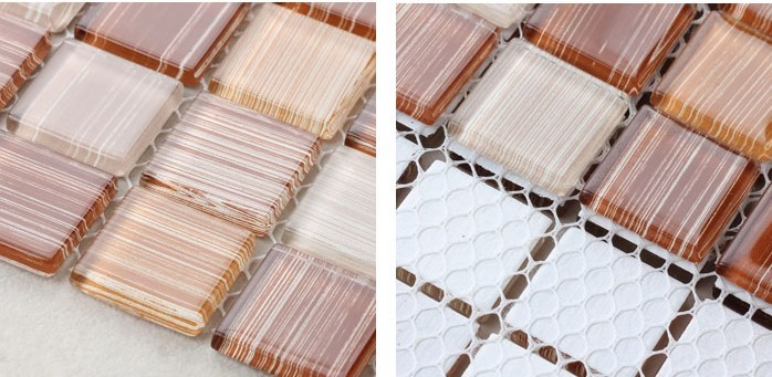 back of glass mosaic tile mesh mounted - hc-043