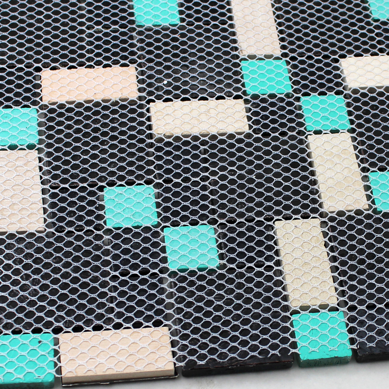 back of glass mosaic tile mesh mounted - kl785