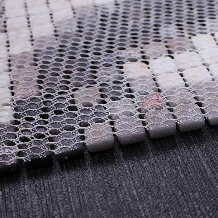 Wholesale vitreous mosaic tile pattern glazed crystal for Installing glass tile with mesh back