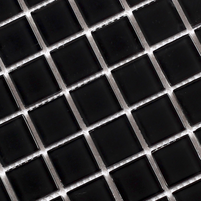 Wholesale Black Crystal Glass Mosaic Tiles Kitchen Backsplash Design ...
