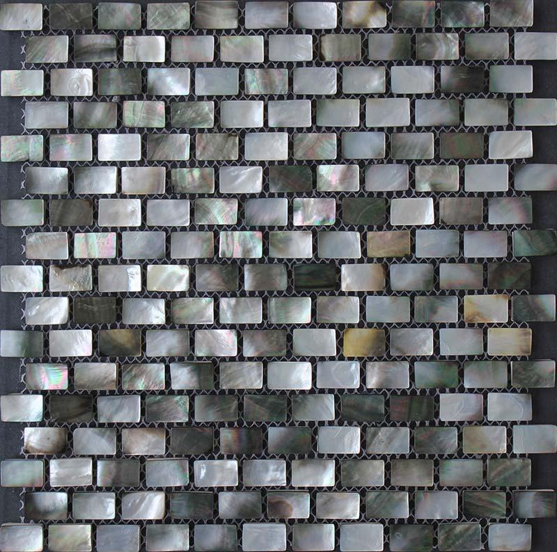 Black Lip Seashell Mosaic Mother Of Pearl Subway Tile