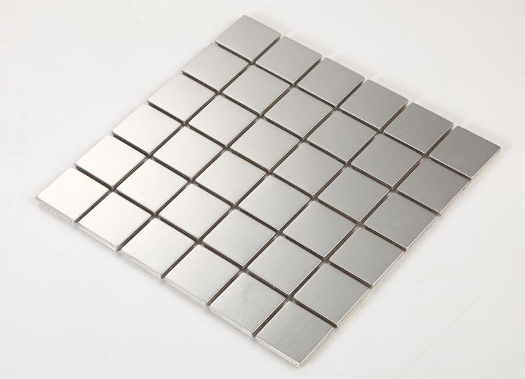 Stainless Steel Tile With Base Kitchen Backsplash Square