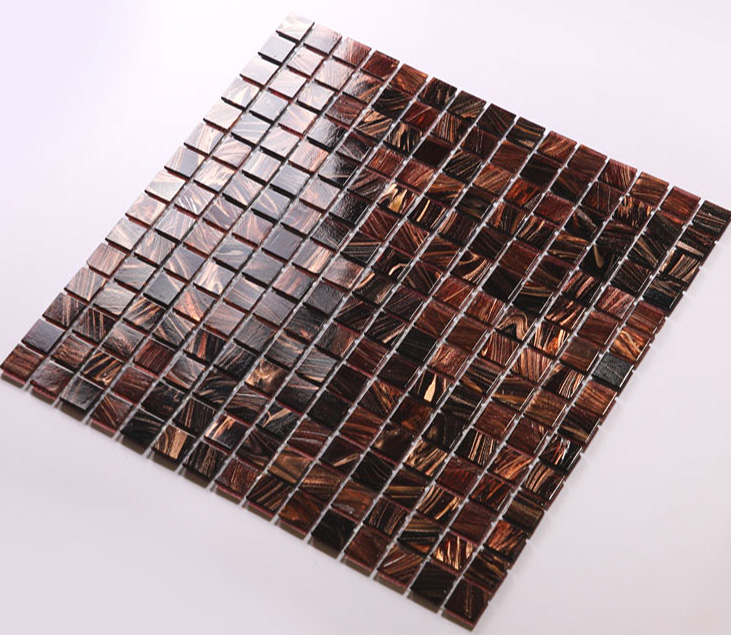 Glass Mosaic Tiles Hand Painted Vitreous Backsplash Tile