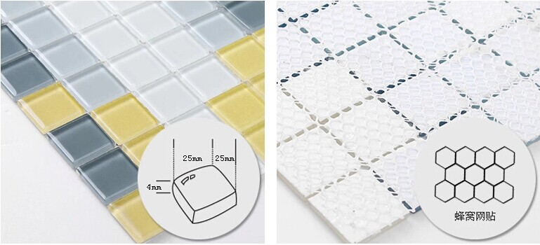 Crystal Glass Backsplash Wall Tiles Puzzle Mosaic Tile CL10