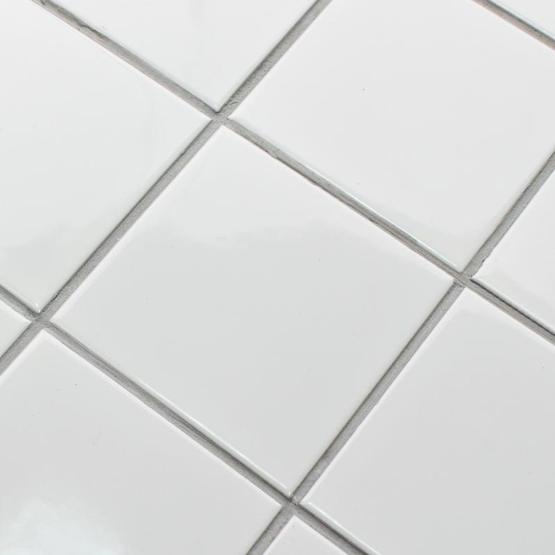 White SHINY Porcelain Tile NONSLIP Tile Washroom Wall Shower Tile - Anti slip coating for porcelain tiles