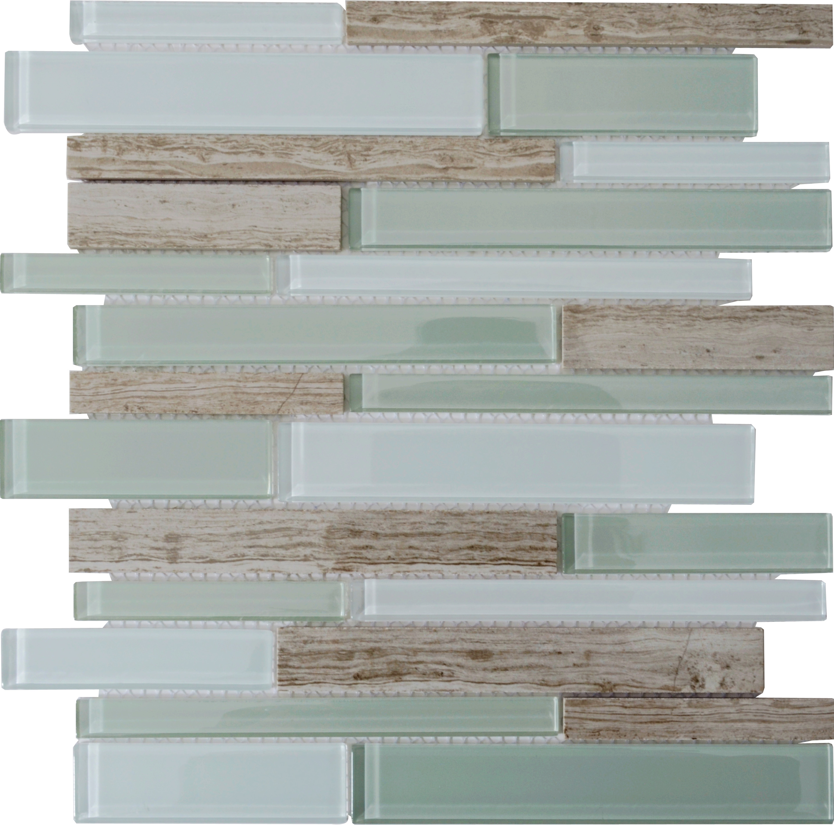Natural stone with crystal mosaic textured marble tile backsplash front side of the stone glass blend mosaic tile dailygadgetfo Image collections
