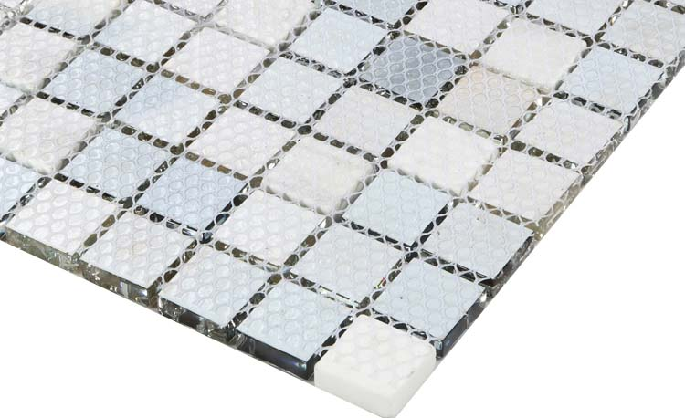 crystal backsplash bathroom wall tile mesh mounted - l316