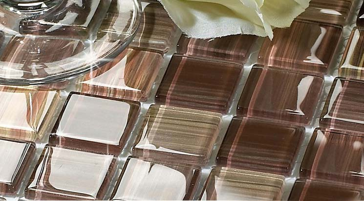 crystal glass mosaic tile details - b128