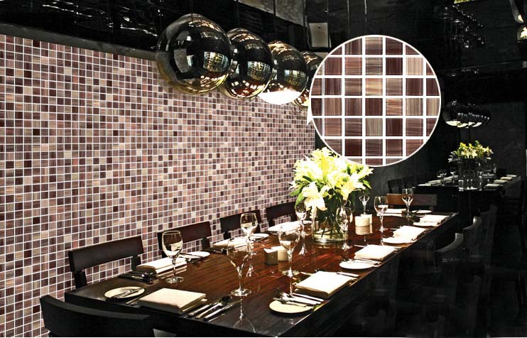 crystal glass mosaic tile dining room wall stickers - b128