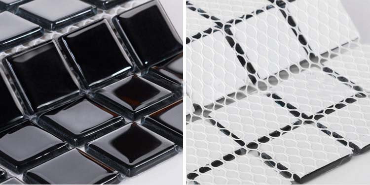 crystal glass mosaic tile for swimming pool -  hj140
