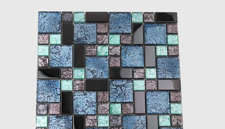 Crystal Glass Tile Backsplash Kitchen Kl785