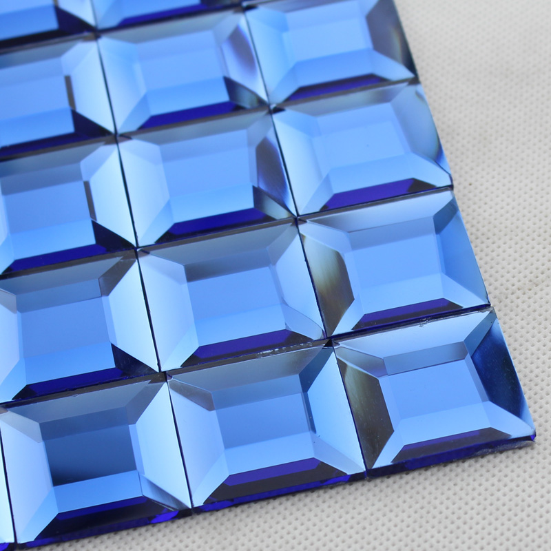 Wholesale Mosaic Tile Crystal Glass Backsplash Kitchen Blue